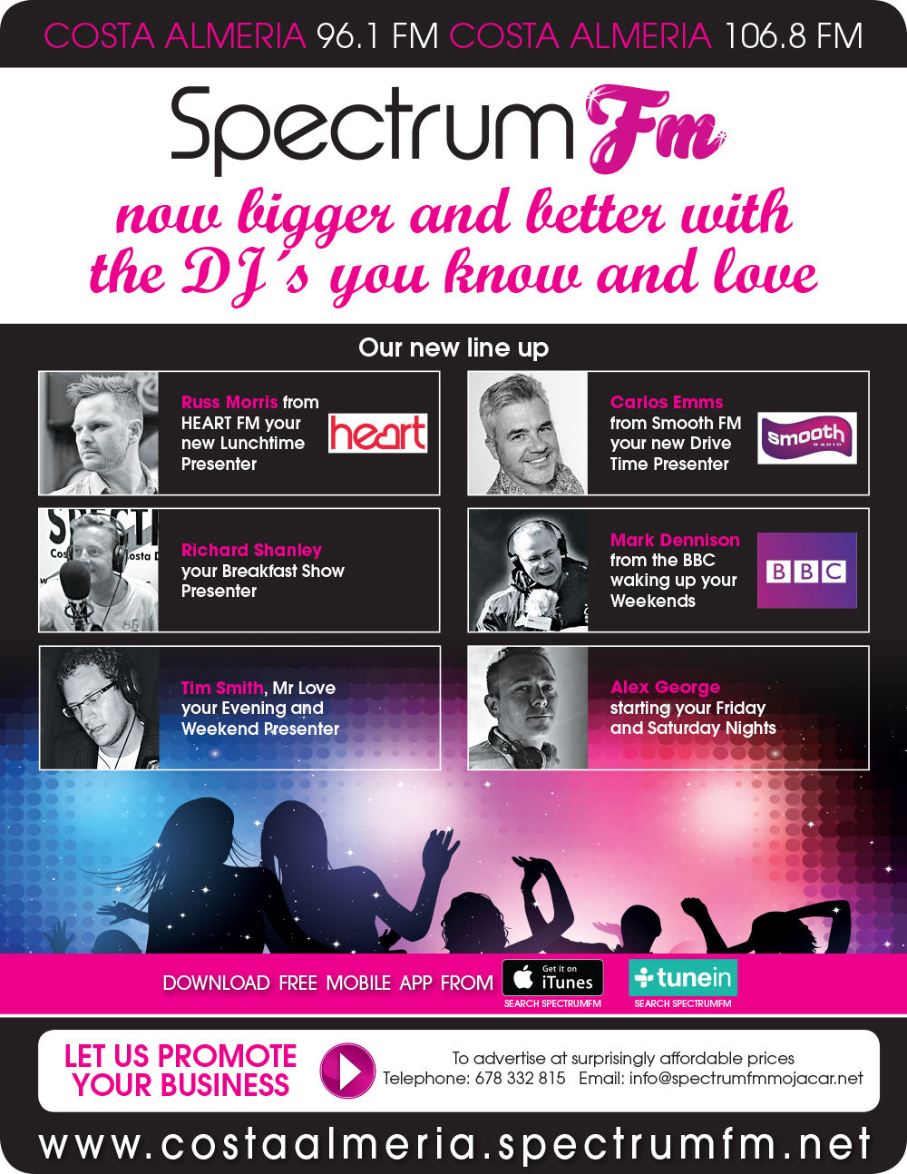 TOP UK DJ's Join Spectrum FM in an EXCITING New Line Up